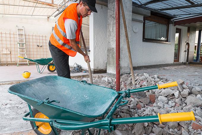 Déblaiement du chantier et évacuation des gravats