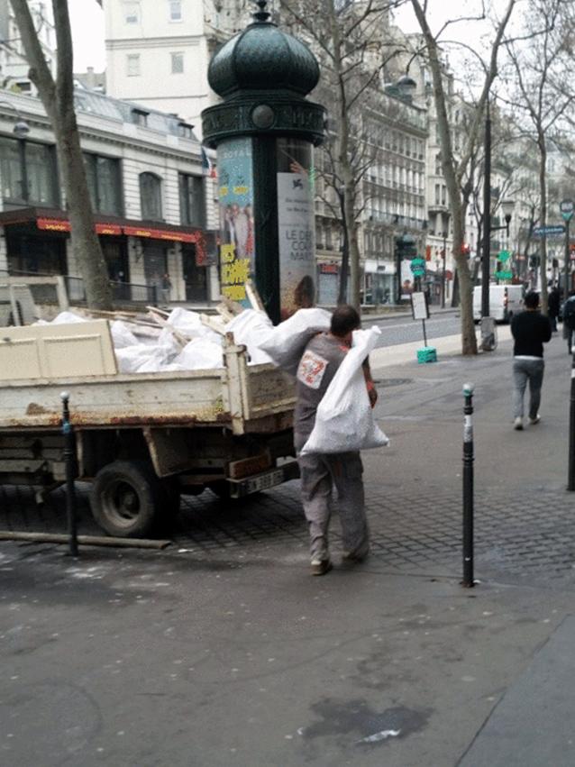 Déblaiement de chantier des gravats - Paris